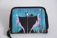 Disney Maleficent Evil Queen / Black Dragon Zippered Villain Wallet Rare