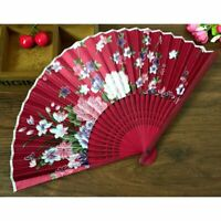 Compact Summer Bamboo Folding Hand Held Fan Chinese Dance Party Pocket Gifts#^