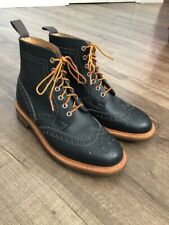 MARK MCNAIRY BROGUE BOOTS COMMANDO SOLE SZ 8UK 9US MADE IN ENGLAND