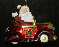 Fitz And Floyd Santa In Car Christmas Ornament - inscription on bottom