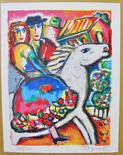 "ZAMY STEYNOVITZ /""ORCHARD SERENADE/"" Hand Signed Limited Edition Lithograph Art"