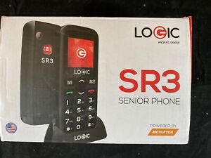 Logic SR3- Black Senior Phone W/ SOS Emergency Button D7