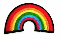 Rainbow DIY Embroidered Sew On Iron Patch Badge Clothes T shirt Sewing Fast UK