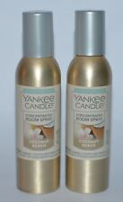 2 YANKEE CANDLE COCONUT BEACH CONCENTRATED ROOM SPRAY PERFUME AIR FRESHENER CAN