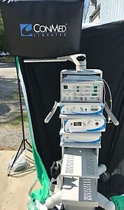 """Conmed/Linvatec Endoscopy Station - 26"""" Monitor, GS1002, VP1600, Still Capture"""
