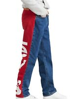 Levi's Mens Jeans Blue Size 34X34 Slim Tapered Stretch Big Logo Denim $89 154