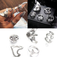- set geometrische verrutschten ringe setzen wellen / schildkröte finger - ring