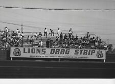 LIONS BLEACHER SIGN    WOW  8X12 DRAG RACING PHOTO