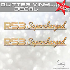 2x Mini Cooper S R53 JCW Supercharged Signature Glitter Car Vinyl Decal Stickers