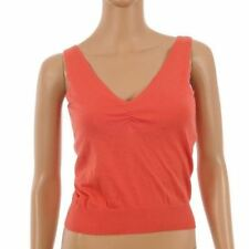 Polyester Patternless Tank Tops for Women