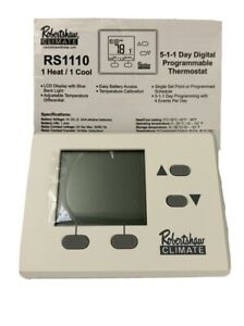 Robertshaw - RS1110 1 Heat/1 Cool Digital 5-1-1 Day Programmable Thermostat
