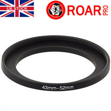 43-52mm Stepping Step-Up Ring Filter Adaptor 43mm to 52mm