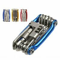 Cycling Bicycle Repair Tool Bike Pocket Multi Function Folding Tool 11 in 1 Kit