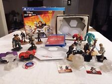 PS4 Disney Infinity [3.0] LOT:(13) Figures, (6)Clear pc (2) Bases & Software ps3
