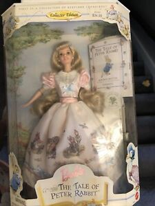 1997 The Tale Of Peter Rabbit Collector Edition Barbie Doll Mattel NRFB