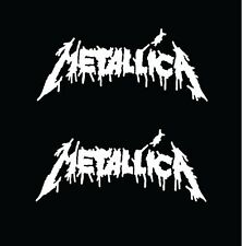 METALICA STICKER VINYL DECAL VEHICLE CAR WALL LAPTOP 1 OF 2 SET