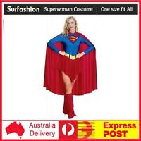 Adult Women Sexy Superwoman Supergirl Superhero Halloween Fancy Dress Costume