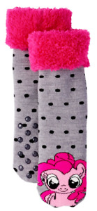 MY LITTLE PONY PINKIE PIE Plush Slipper Socks (US Women's Shoe Sizes 4 - 10)