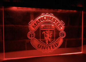 Neon Football manchester  united  Football  Logo Neon  LED Sign Color Red Uk