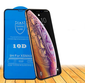 Front and Back FULL SCREEN 10D 9H EDGE TEMPERED GLASS PROTECTOR For iPhone X