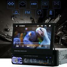 "7"" Single 1DIN Car MP3/MP5 Player GPS Navigation Bluetooth HD Touch Stereo Radio"