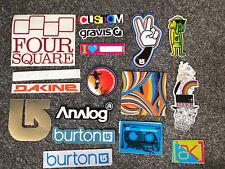 Burton Snowboards Sticker Pack Inc Rare Gold Logo