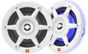 "NEW JBL Stadium Marine MW6520 6.5"" Premium 2-Way Speaker w/ RGB Lighting (PAIR)"