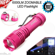 6000lm CREE Q5 LED  14500 3Modes ZOOMABLE Tactical Flashlight Torch Super Bright