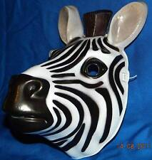 The Zebra Mask, Very Beautiful, Life Like Animal Mask ! A Great Party Mask !