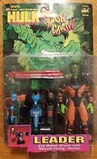 Toybiz The Incredible Hulk Smash & Crash, Leader Evil Robot Drone Figures New!