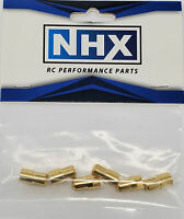 NHX 6.5mm Gold Plated Bullet Adapter Connector Male 6Pcs/Bag