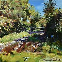 Jeremy Sanders Original Oil Painting - Rural Landscape Cornwall (Cornish Art)