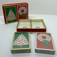 Vintage Congress Playing Cards - Complete Set with Sealed Christmas Themed Decks