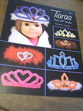 """Tiaras For 18"""" Dolls Plastic Canvas Leaflet Joanne C. Gonzalez"""