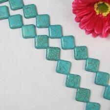 Turquoise Howlite Square 20x6mm . Perles 1 Fil