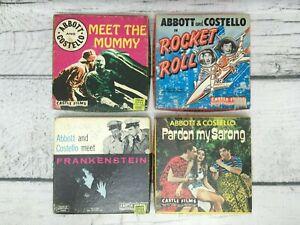 Vintage Castle Films Abbott & Costello 8mm Movie Lot of 4
