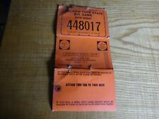 1966 New York Citizen  Resident Big Game Hunting Deer Back Tag 448017