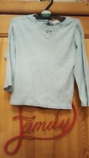 girls light blue baby gap long sleeved top size 2 years