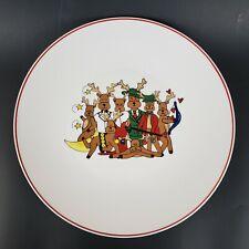 LTD Commodities Santa's Reindeer Large Round Platter Christmas
