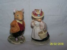 Royal Doulton ~ Lord and Lady Woodmouse ~ Brambly Hedge ~ D BH 4 & 5 ~ J Barklem
