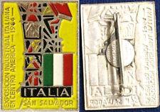 SPILLA EXPOSICION INDUSTRIAL ITALIANA EN SAN SALVADOR 1964  con smalti #542
