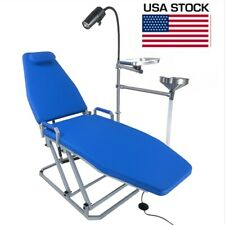 Greeloy Portable Dental Chair Folding Chair With Led Cold Light Cuspidor Tray Us
