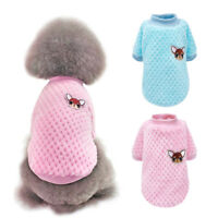 Warm Small Dog Clothes Soft Plush Liner Vest Cute Puppy Cat Winter Apparel Pink