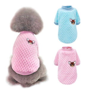 Warm Cartoon Small Dog Clothes Pet Puppy Cute Vest Dog Cat Apparel Pet Clothing
