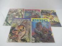 Epic Illustrated Magazine Marvel 1980 1981 Lot of 5 Mostly NM 9.2+