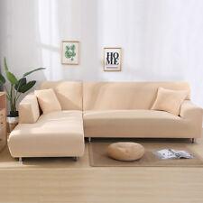 2pcs Sofabezug stretch elastische Sofahusse Abdeckung Für L Form Schnittsofa #B