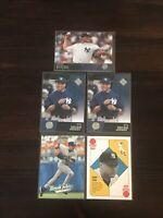 Derek Jeter Mariano Rivera 5 Card Lot Upper Deck Topps Fleer New York Yankees