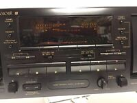 PIONEER CT-W404R STEREO DOUBLE CASSETTE DECK RECORDER PLAYER 1998 perfect
