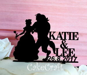 Beauty and the Beast Acrylic Wedding,Birthday engagement cake topper decorations