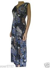 NEW Ex Debenhams Ladies Blue Floral Jersey Casual Midi Dress Size 10- 18
